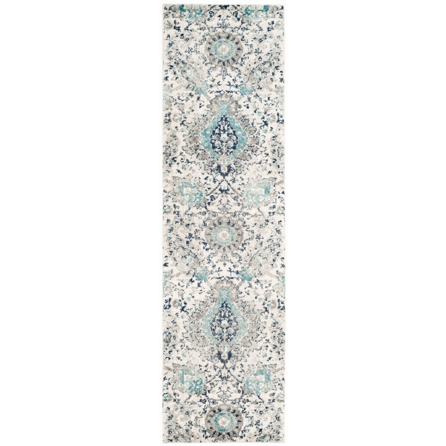 Safavieh Madison Abbey Cream/Light Gray Indoor Lodge Runner (Common: 2 x 16; Actual: 2.3-ft W x 16-ft L)