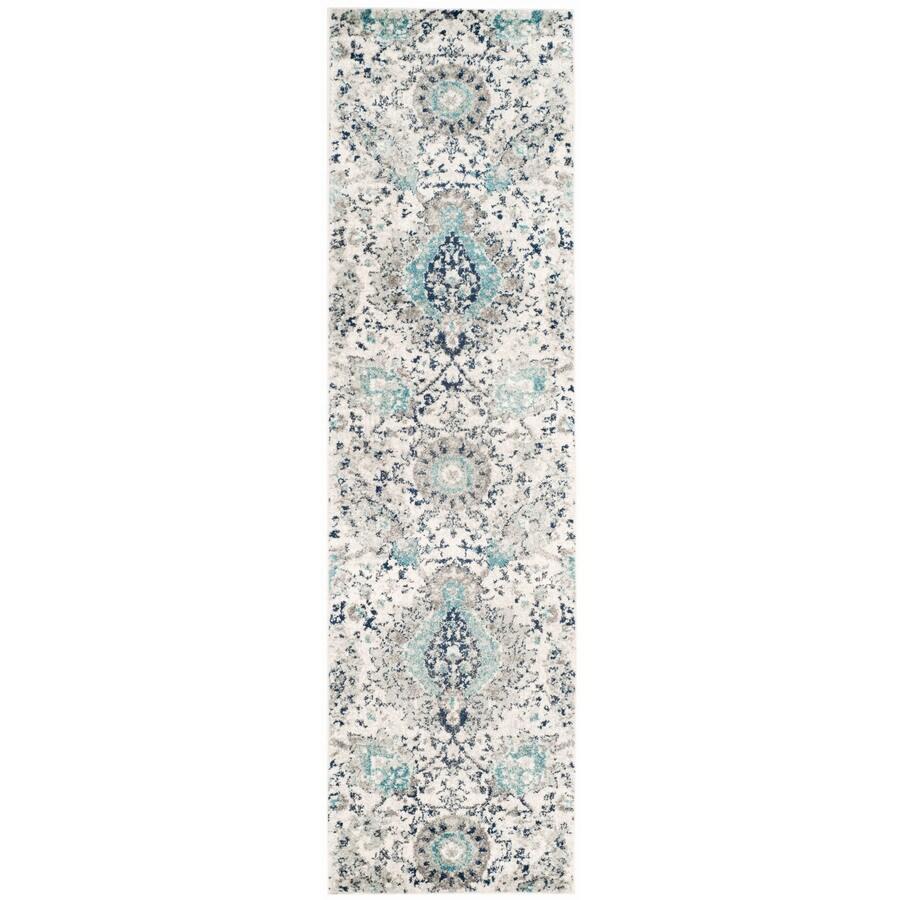 Safavieh Madison Abbey Cream/Light Gray Rectangular Indoor Machine-Made Lodge Runner (Common: 2 x 20; Actual: 2.3-ft W x 20-ft L)
