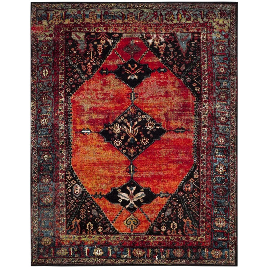 Shop Safavieh Vintage Hamadan Bidjar Orange Indoor Lodge