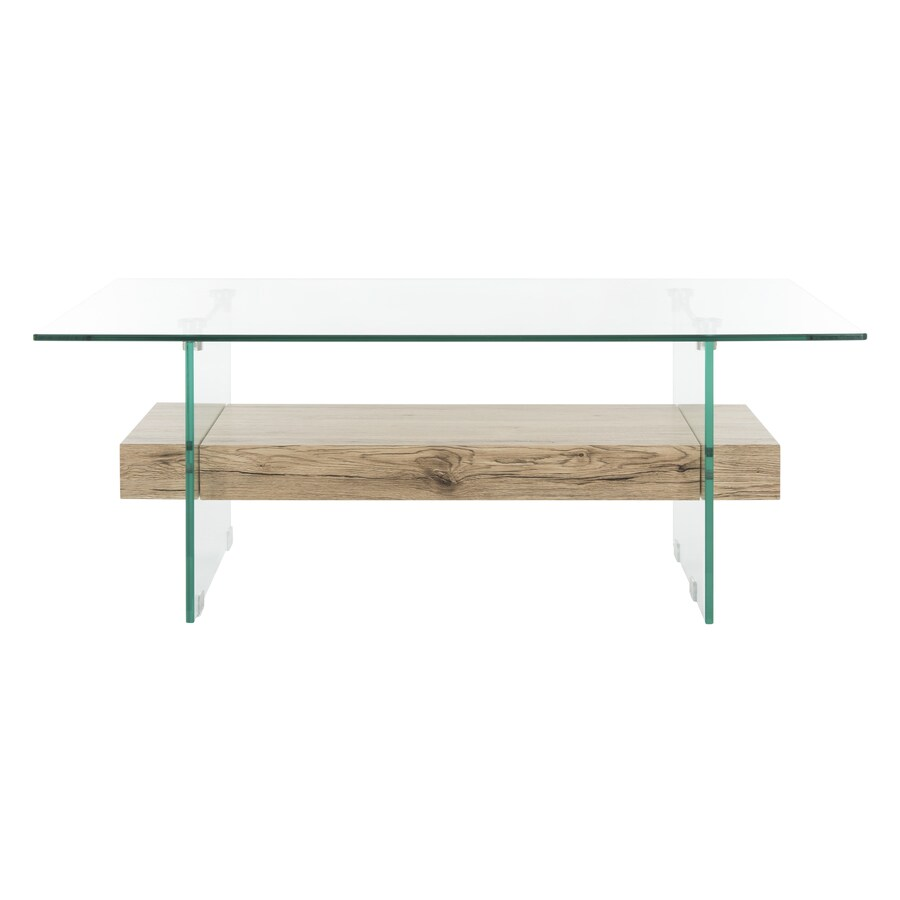 Safavieh Kayley Clear Glass Coffee Table at Lowes.com