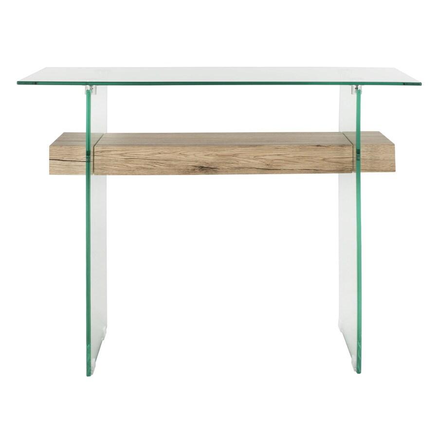 Kayley Rectangular Modern Glass Coffee Table: Safavieh Kayley Console Table At Lowes.com