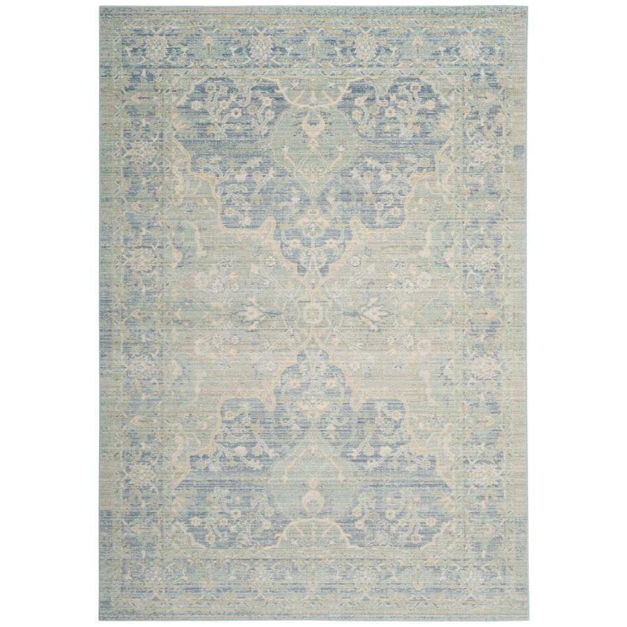 Safavieh Windsor Leta Seafoam/Blue Rectangular Indoor Machine-Made Oriental Area Rug (Common: 5 x 7; Actual: 5-ft W x 7-ft L)