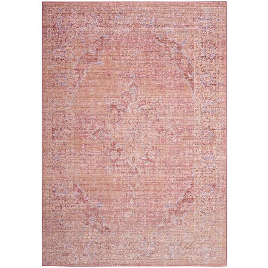 Safavieh Windsor Jehan Orange/Fuchsia Indoor Oriental Area Rug (Common: 8 x 10; Actual: 8-ft W x 10-ft L)
