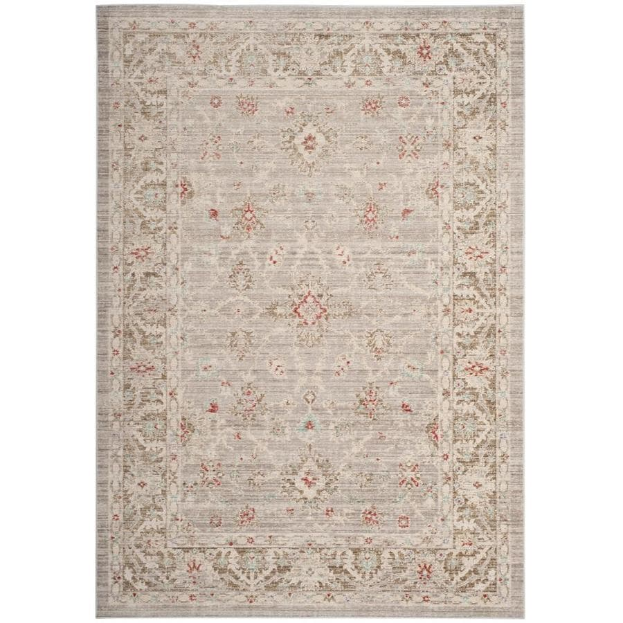 Safavieh Windsor Ara 8 X 10 Light Gray Brown Indoor Distressed Overdyed Vintage Area Rug In The Rugs Department At Lowes Com