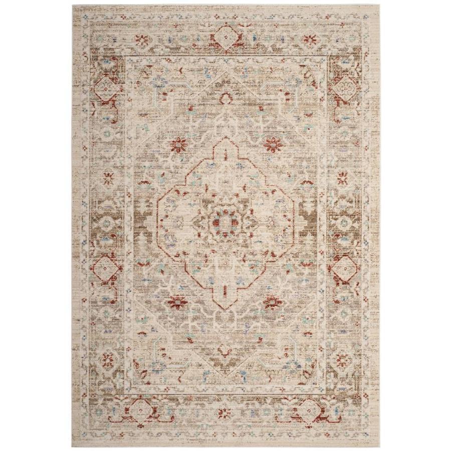 Safavieh Windsor Naji Ivory/Brown Indoor Oriental Area Rug (Common: 5 x 7; Actual: 5-ft W x 7-ft L)