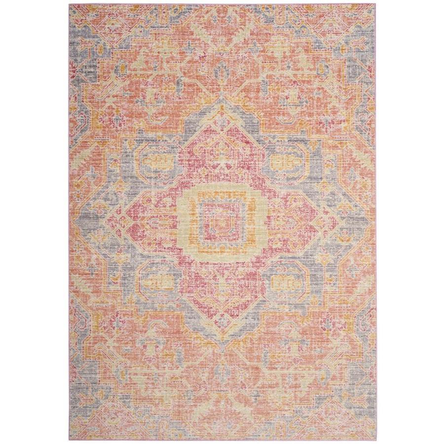 Safavieh Windsor Novin Fuchsia/Blue Indoor Oriental Area Rug (Common: 4 x 6; Actual: 4-ft W x 6-ft L)