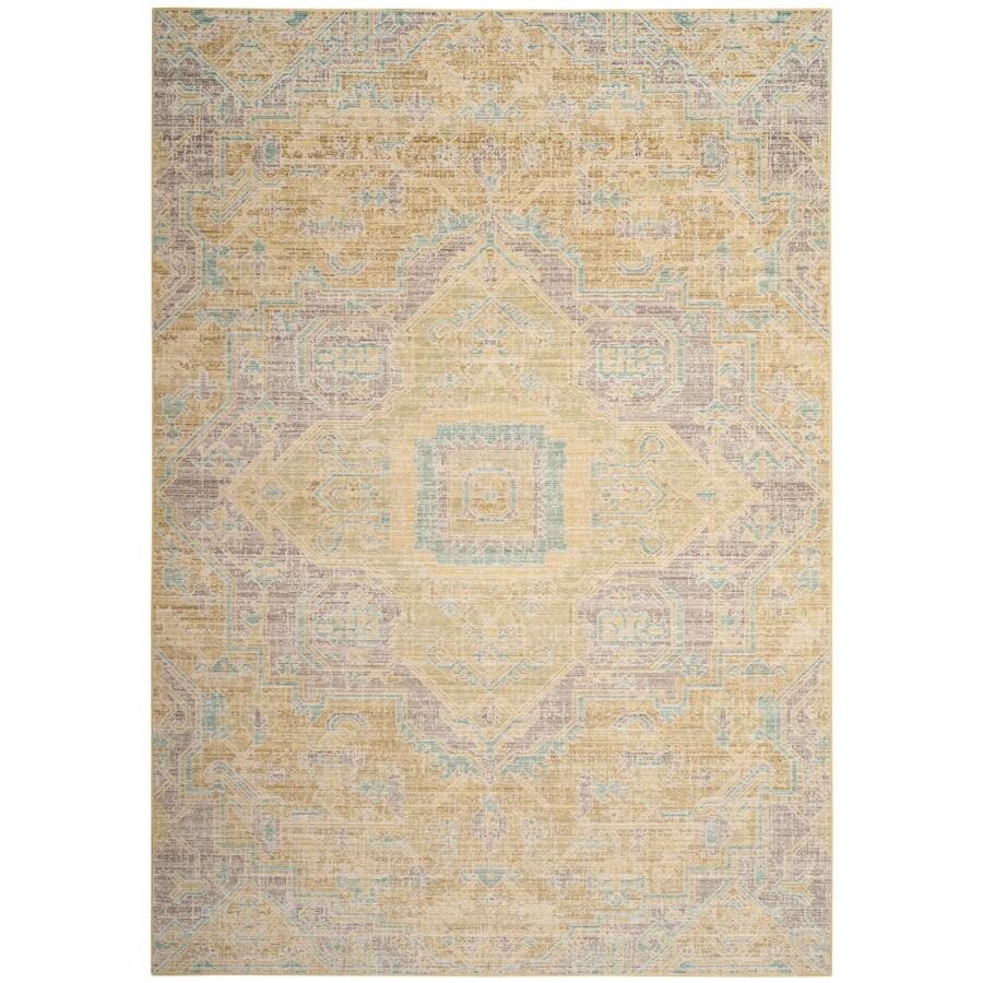 Safavieh Windsor Novin Light Gray/Lime Rectangular Indoor Oriental Throw Rug (Common: 3 x 5; Actual: 3-ft W x 5-ft L)