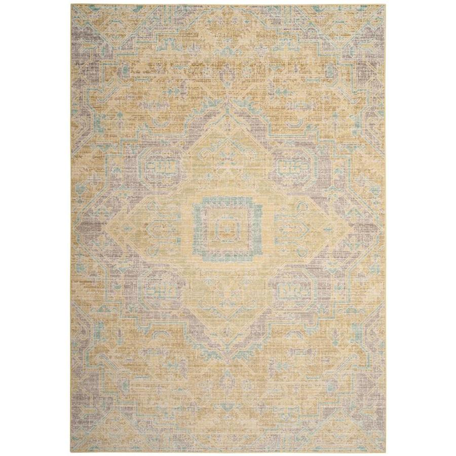 Safavieh Windsor Novin Light Gray/Lime Indoor Oriental Area Rug (Common: 4 x 6; Actual: 4-ft W x 6-ft L)