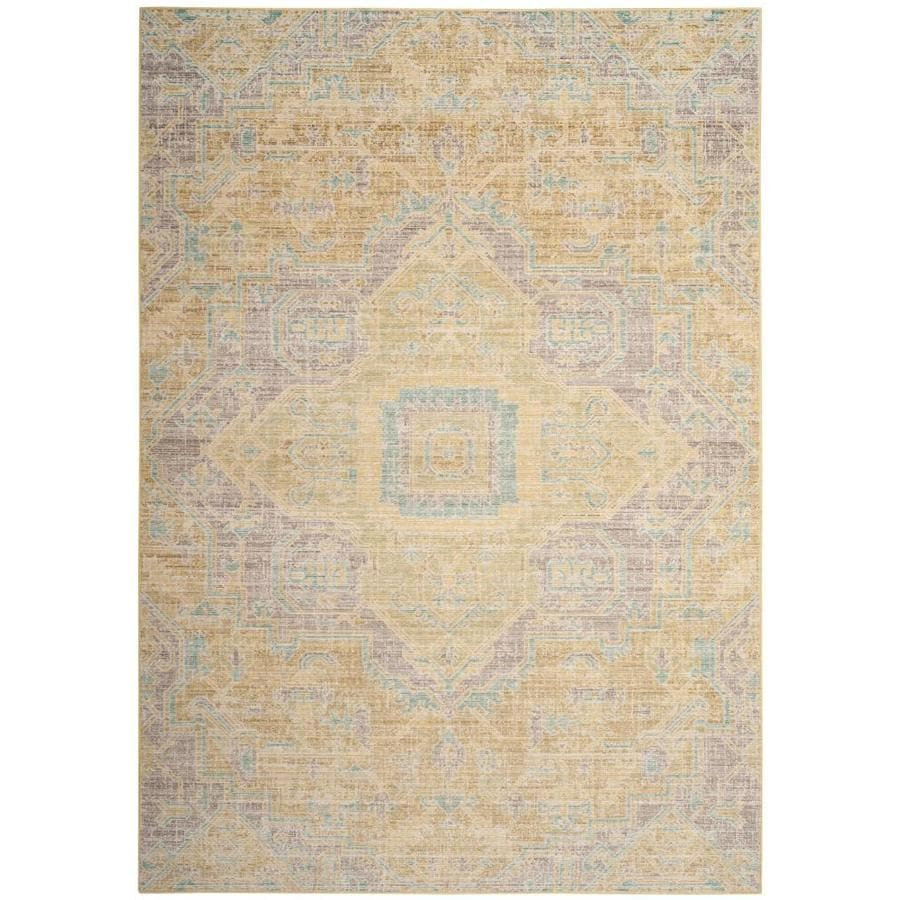 Safavieh Windsor Novin Light Gray/Lime Rectangular Indoor Machine-made Oriental Area Rug (Common: 8 x 10; Actual: 8-ft W x 10-ft)