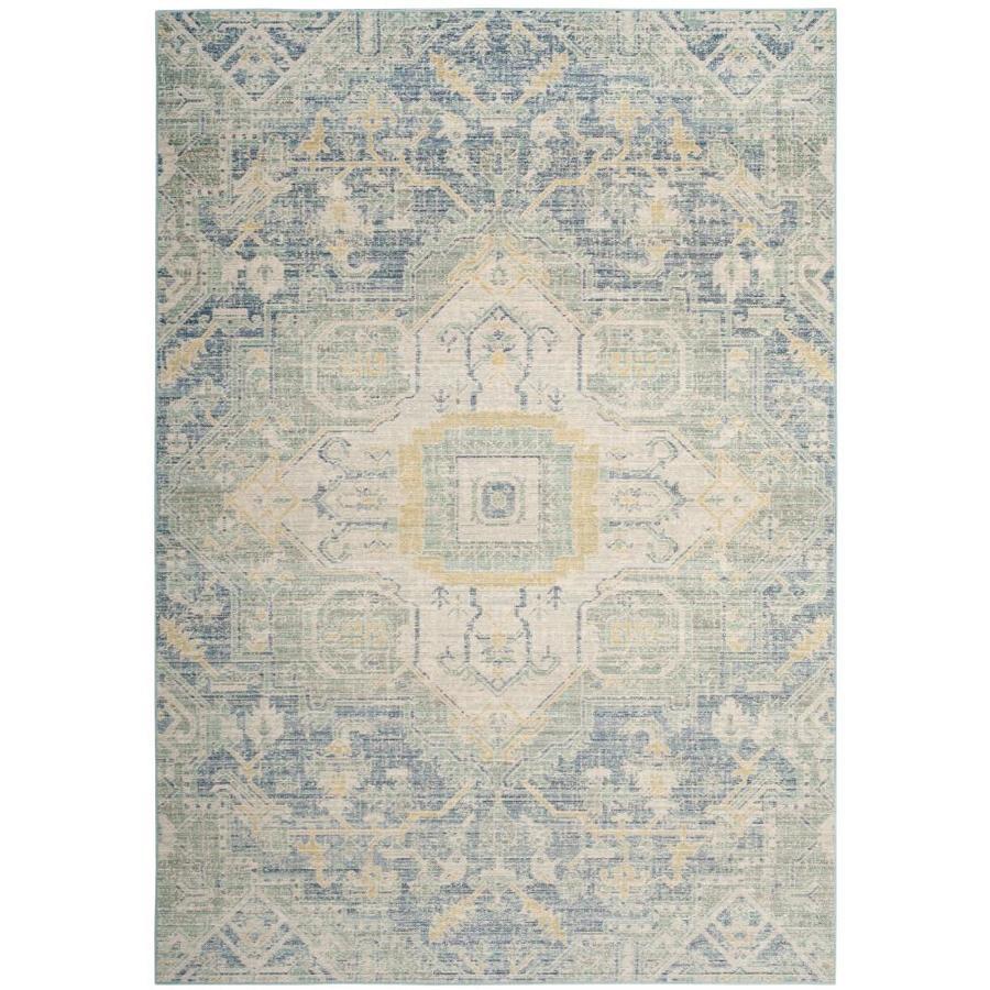 Safavieh Windsor Novin Blue/Lime Indoor Oriental Area Rug (Common: 8 x 10; Actual: 8-ft W x 10-ft L)