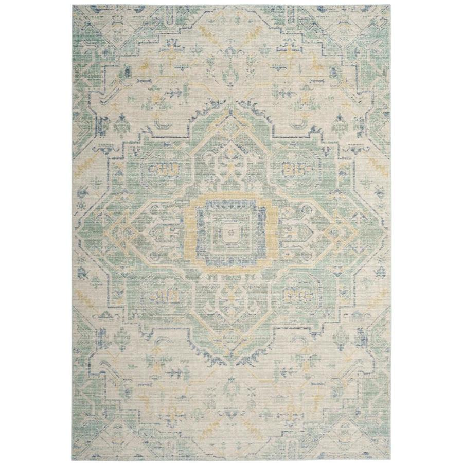 Safavieh Windsor Novin Light Gray/Seafoam Indoor Oriental Area Rug (Common: 8 x 10; Actual: 8-ft W x 10-ft L)