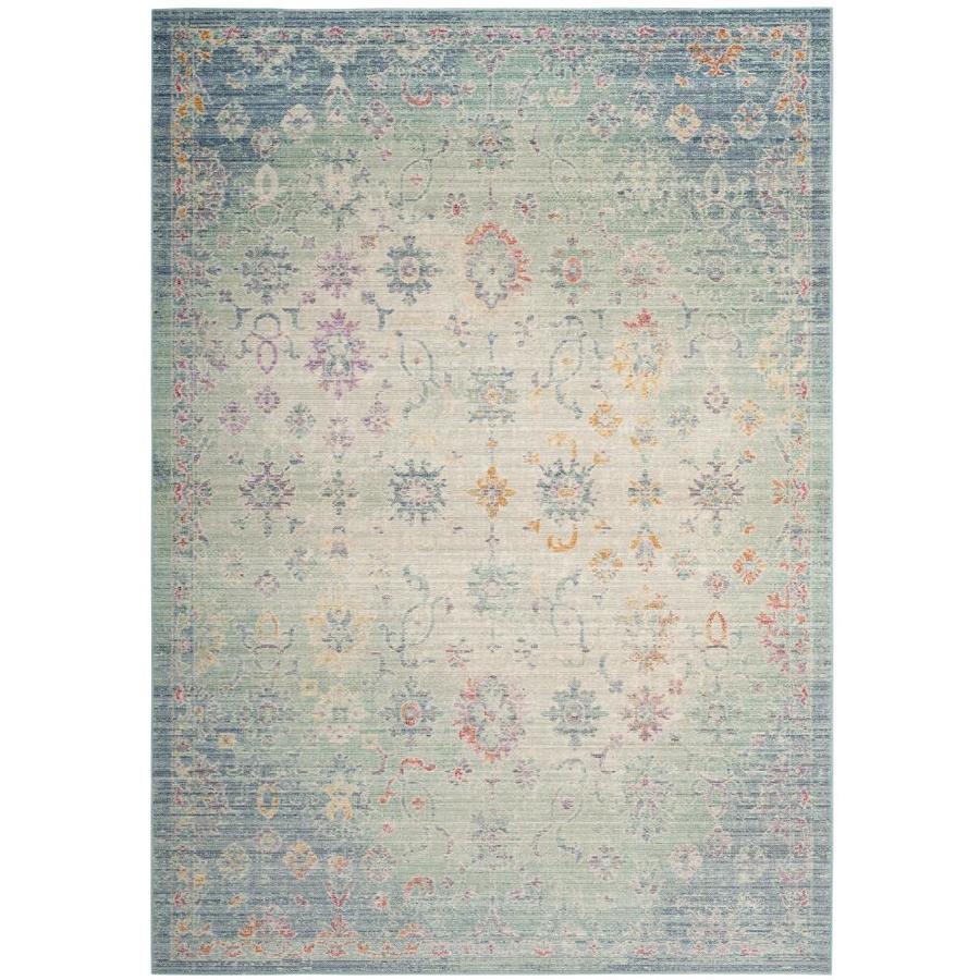 Safavieh Windsor Pasand Seafoam/Blue Indoor Oriental Area Rug (Common: 9 x 13; Actual: 9-ft W x 13-ft L)
