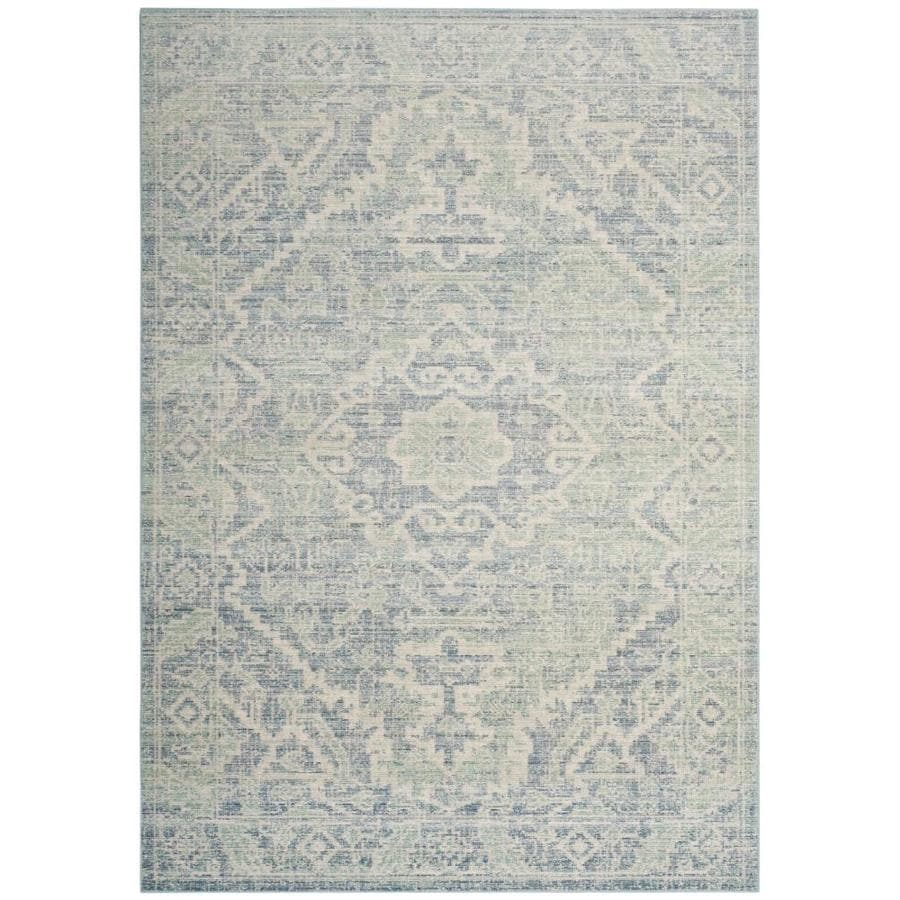 Safavieh Windsor Simya Seafoam/Blue Indoor Oriental Area Rug (Common: 4 x 6; Actual: 4-ft W x 6-ft L)