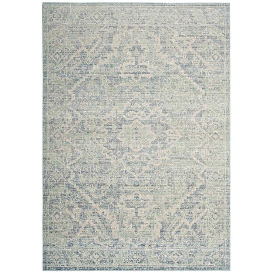 Safavieh Windsor Simya Seafoam/Blue Indoor Oriental Area Rug (Common: 5 x 7; Actual: 5-ft W x 7-ft L)