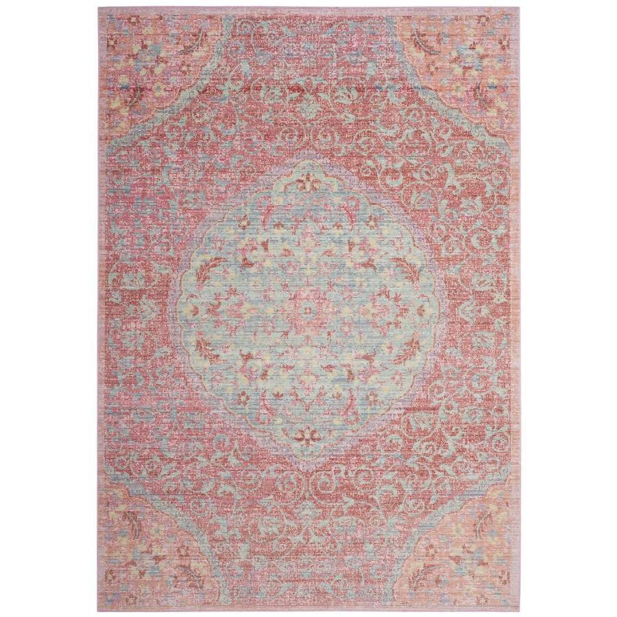 Safavieh Windsor Talieh Rose/Seafoam Indoor Oriental Area Rug (Common: 5 x 7; Actual: 5-ft W x 7-ft L)