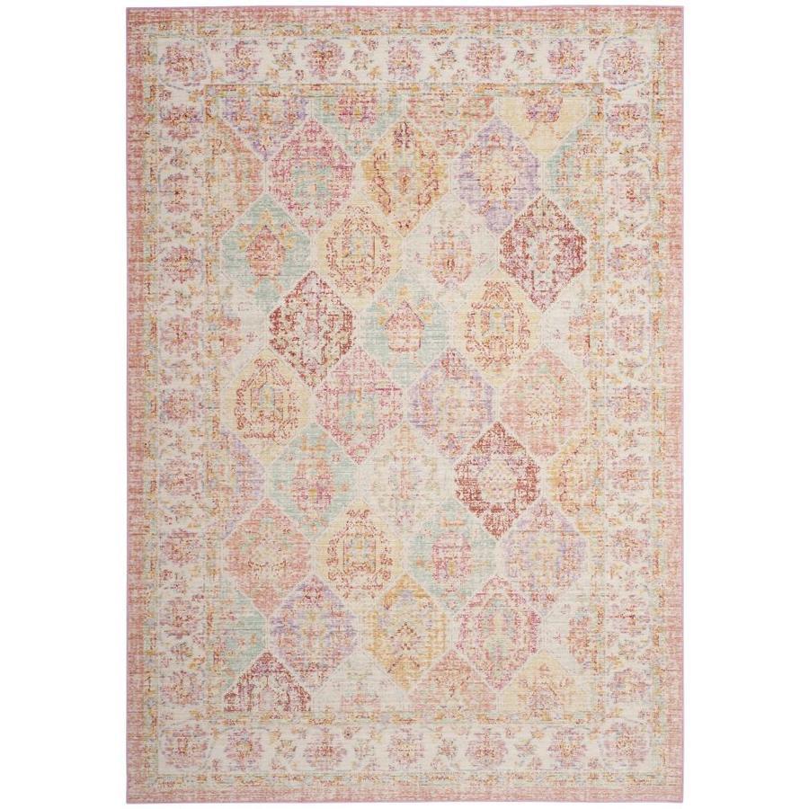Safavieh Windsor Zari Pink/Multi Rectangular Indoor Machine-made Oriental Area Rug (Common: 8 x 10; Actual: 8-ft W x 10-ft)