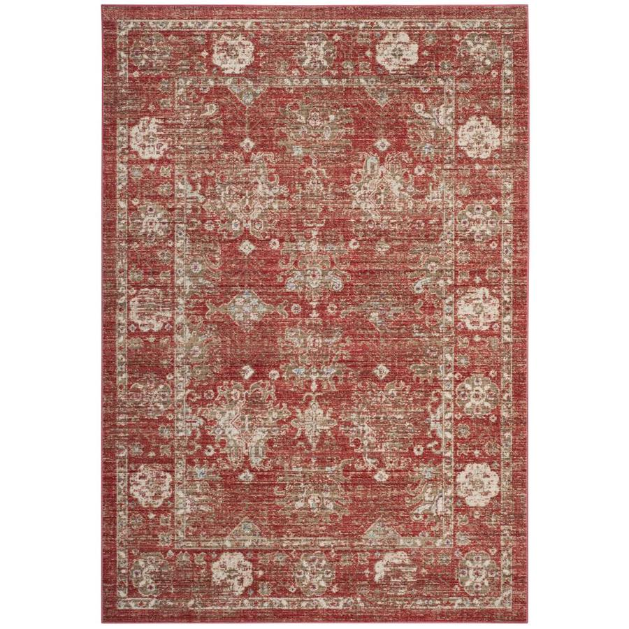 Safavieh Windsor Davar Red/Ivory Indoor Oriental Area Rug (Common: 8 x 10; Actual: 8-ft W x 10-ft L)