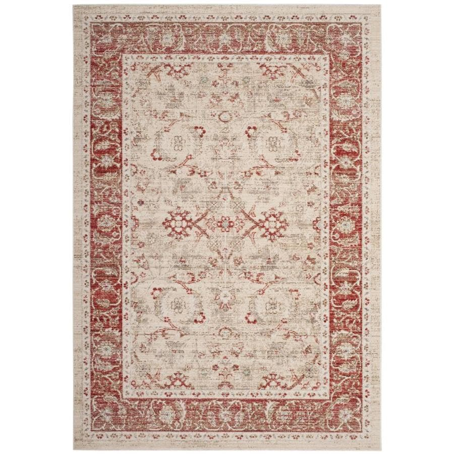 Safavieh Windsor Maloos Ivory/Red Indoor Oriental Area Rug (Common: 9 x 13; Actual: 9-ft W x 13-ft L)