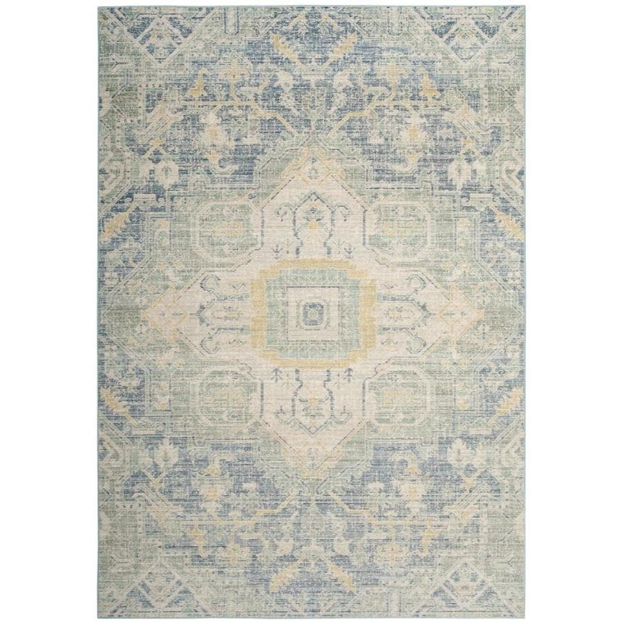 Safavieh Windsor Novin Blue/Lime Indoor Oriental Area Rug (Common: 9 x 13; Actual: 9-ft W x 13-ft L)