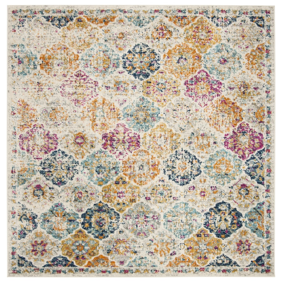 Safavieh Madison Lyton Cream Square Indoor Distressed Area