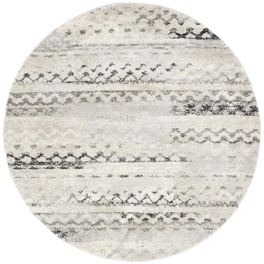 Safavieh Retro Tucson Cream/Gray 4-ft x 4-ft