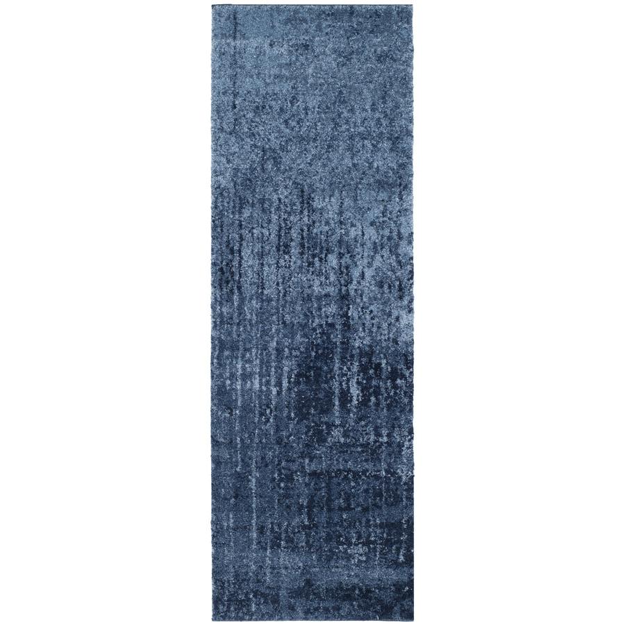 Safavieh Retro Elan Light Blue/Blue 2-ft 3-in x 15-ft