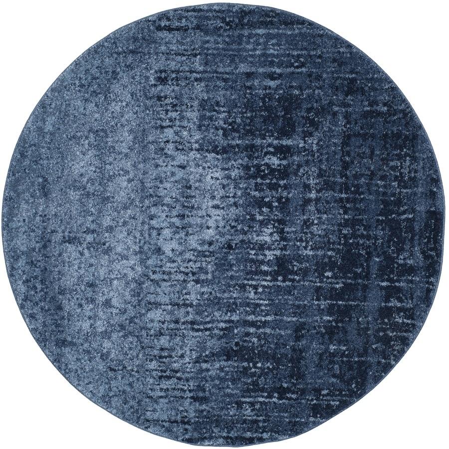 Safavieh Retro Elan Light Blue/Blue 4-ft x 4-ft
