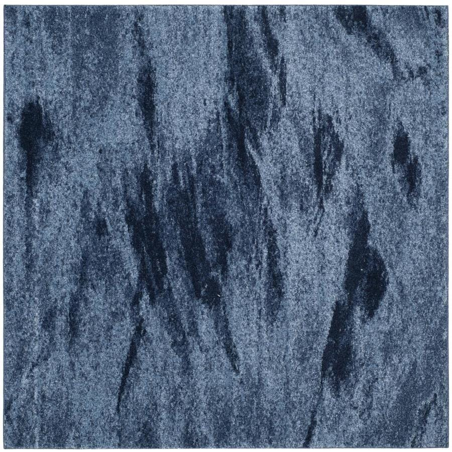 Safavieh Retro Azusa Light Blue/Blue 8-ft x 8-ft