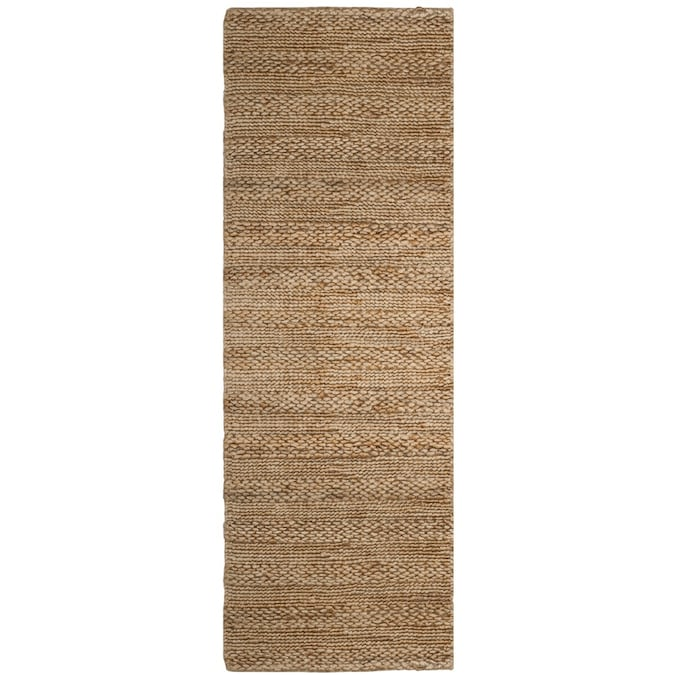 Safavieh Natural Fiber Wainscott 2 X 8 Natural Indoor Stripe Coastal Handcrafted Runner In The Rugs Department At Lowes Com