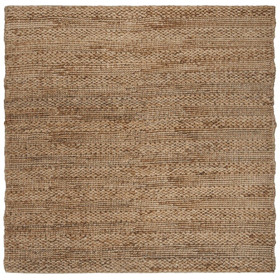 Safavieh Natural Fiber Wainscott Natural Square Indoor Handcrafted Coastal Area Rug (Common: 6 x 6; Actual: 6-ft W x 6-ft)
