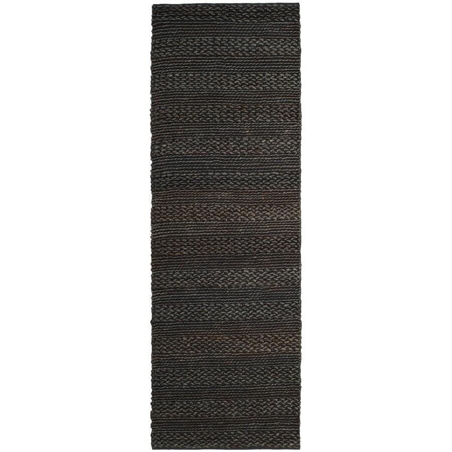 Safavieh Natural Fiber Wainscott Charcoal Rectangular Indoor Handcrafted Coastal Runner (Common: 2 x 8; Actual: 2.25-ft W x 8-ft)
