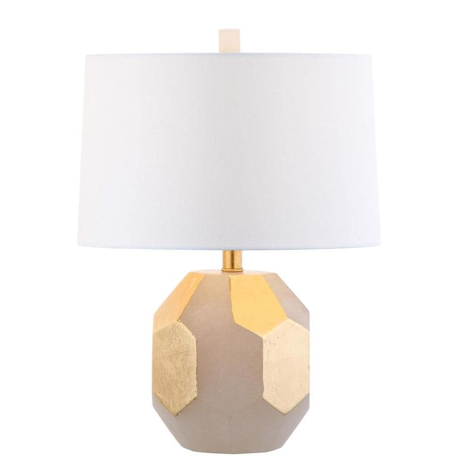 Safavieh Romy Alabaster Table Lamp (White/Gold Leaf)