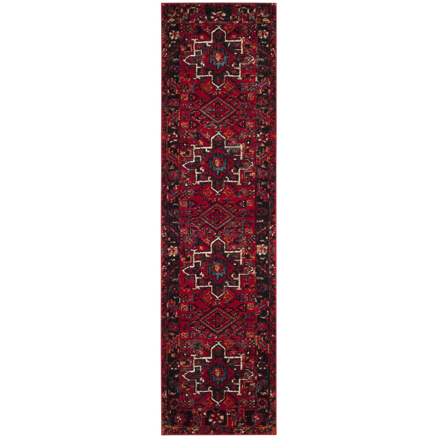 Safavieh Vintage Hamadan Caucasian Red Indoor Lodge Runner (Common: 2 x 20; Actual: 2.2-ft W x 20-ft L)