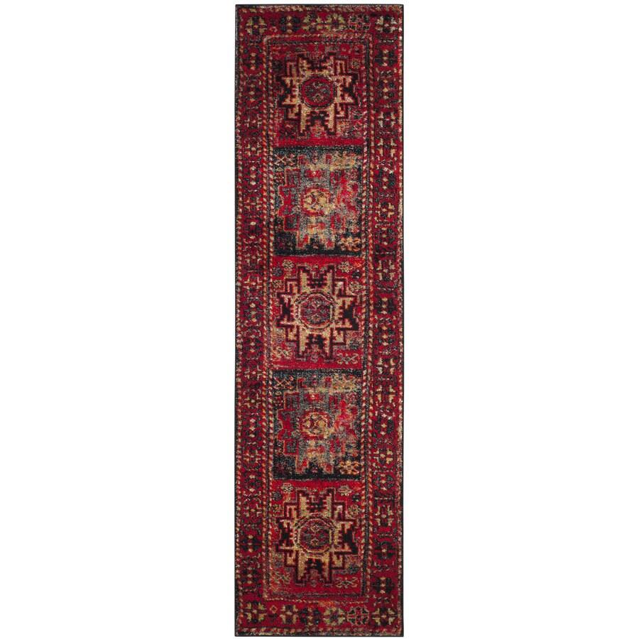 Safavieh Vintage Hamadan Kazak Red Indoor Lodge Runner (Common: 2 x 16; Actual: 2.2-ft W x 16-ft L)