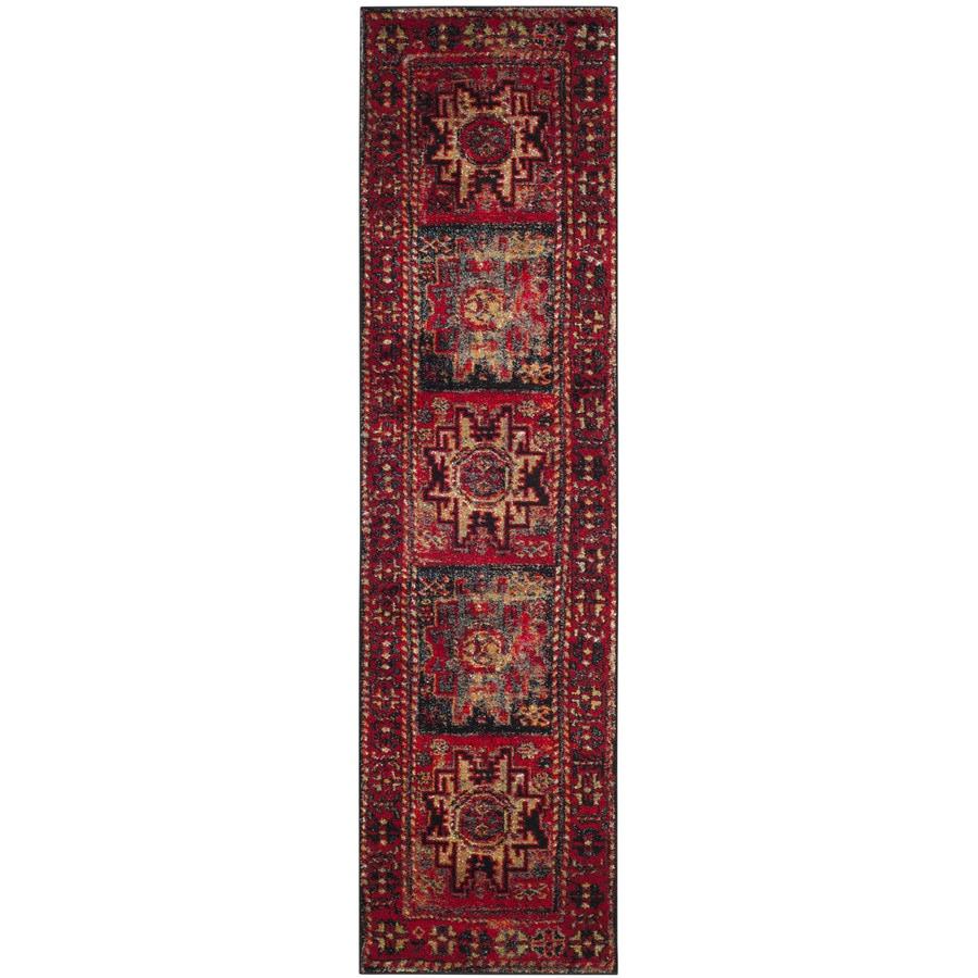 Safavieh Vintage Hamadan Kazak Red Indoor Lodge Runner (Common: 2 x 22; Actual: 2.2-ft W x 22-ft L)
