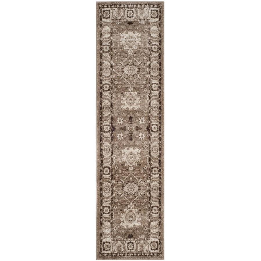 Safavieh Vintage Hamadan Baktiar Taupe Indoor Lodge Runner (Common: 2 x 10; Actual: 2.2-ft W x 10-ft L)