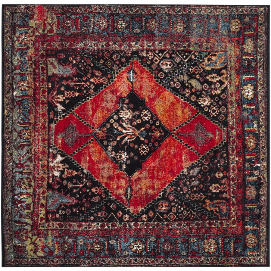 Safavieh Vintage Hamadan Bidjar Orange Square Indoor Lodge Area Rug (Common: 5 x 5; Actual: 5.3-ft W x 5.3-ft L)