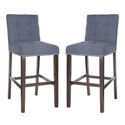 Groovy Safavieh Nikita Set Of 2 Navy Bar Stool At Lowes Com Gmtry Best Dining Table And Chair Ideas Images Gmtryco