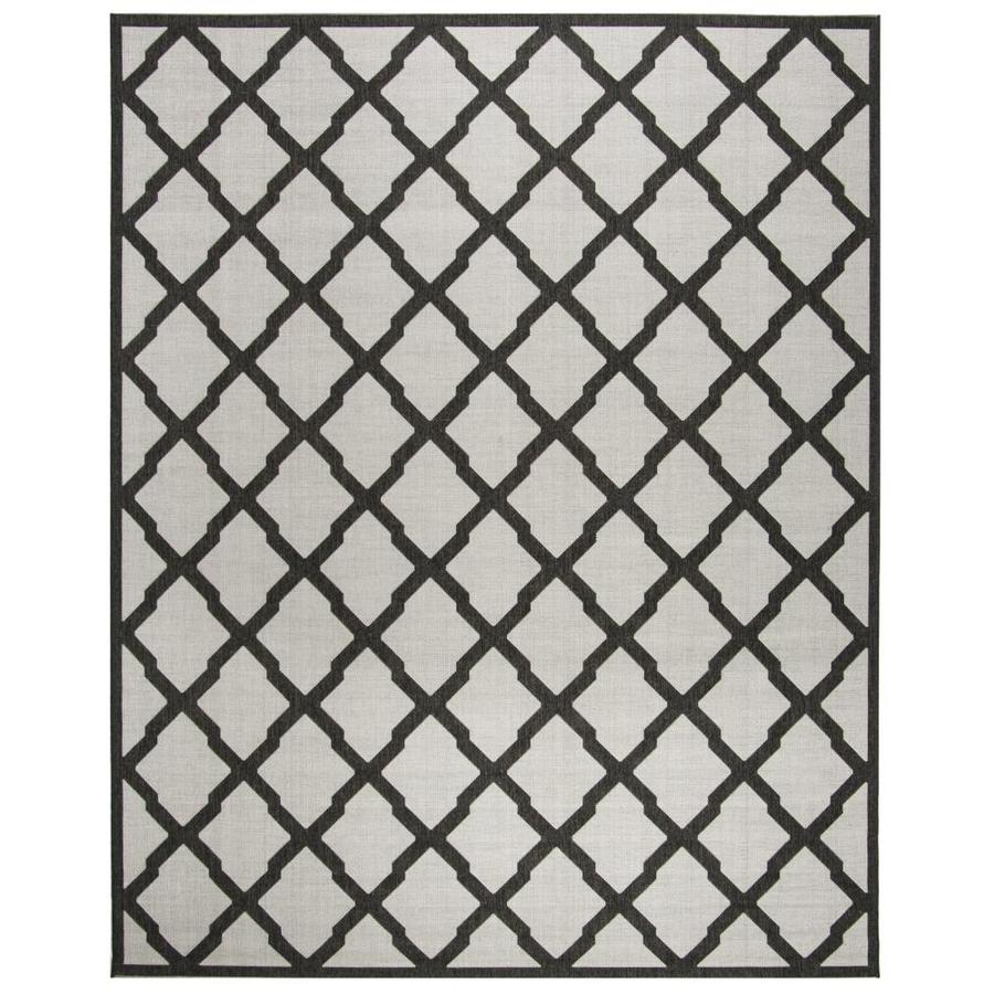 Safavieh Linden Mosaic 6 X 9 Light Gray Charcoal Trellis Coastal Area Rug In The Rugs Department At Lowes Com