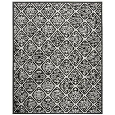 Safavieh Linden Damask 9 X 12 Light Gray Charcoal Indoor Trellis Coastal Area Rug In The Rugs Department At Lowes Com