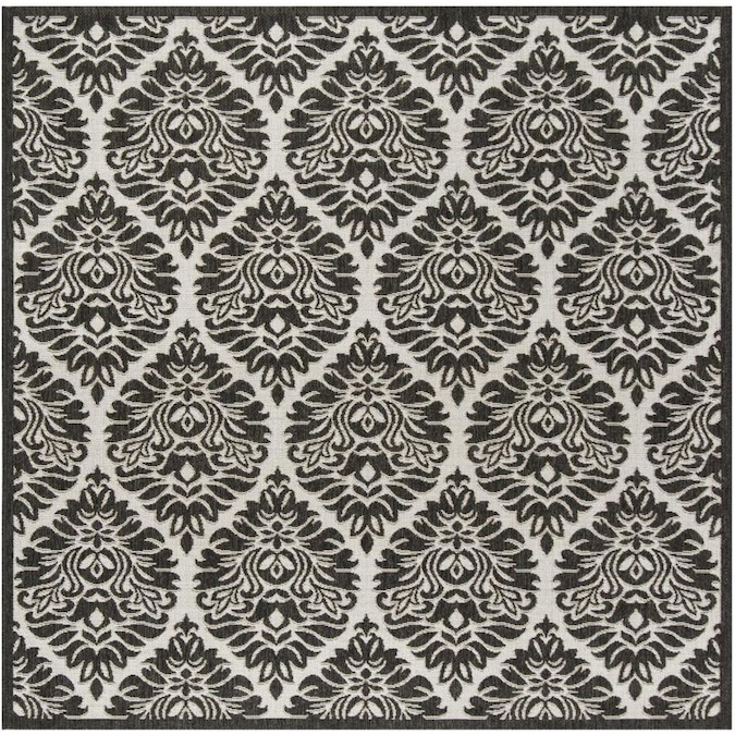Safavieh Linden Orleans 7 X 7 Light Gray Charcoal Square Indoor Damask Coastal Area Rug In The Rugs Department At Lowes Com