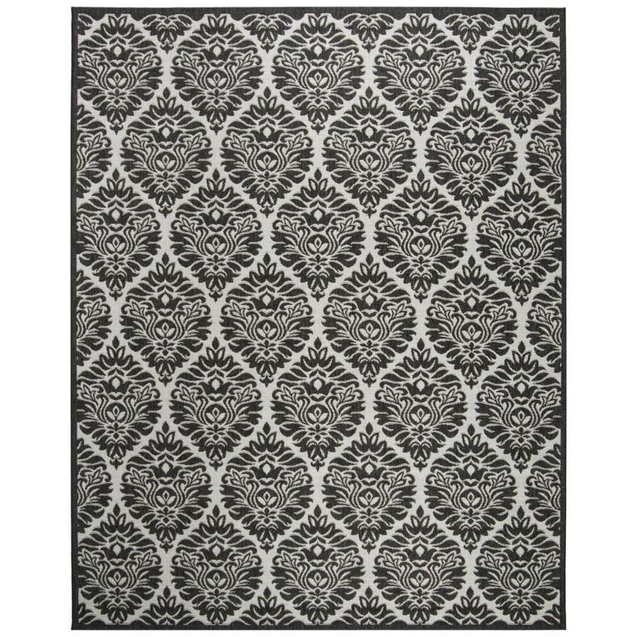 Safavieh Linden Orleans 9 X 12 Light Gray Charcoal Indoor Damask Coastal Area Rug In The Rugs Department At Lowes Com