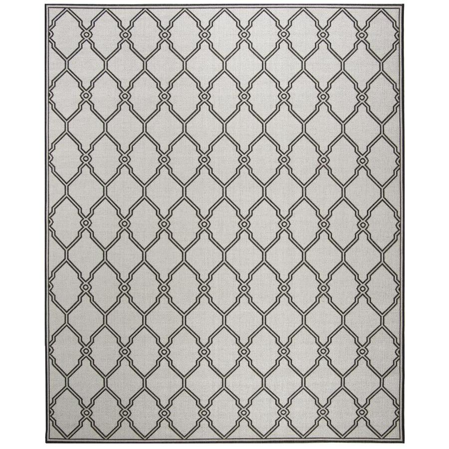 Safavieh Linden Weave 9 X 12 Light Gray Charcoal Indoor Trellis Coastal Area Rug In The Rugs Department At Lowes Com