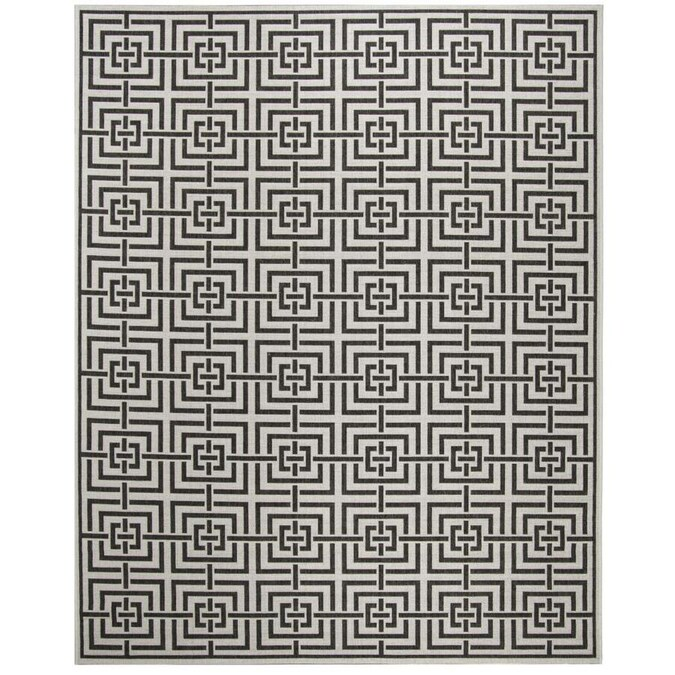Safavieh Linden Heather 9 X 12 Light Gray Charcoal Indoor Abstract Coastal Area Rug In The Rugs Department At Lowes Com