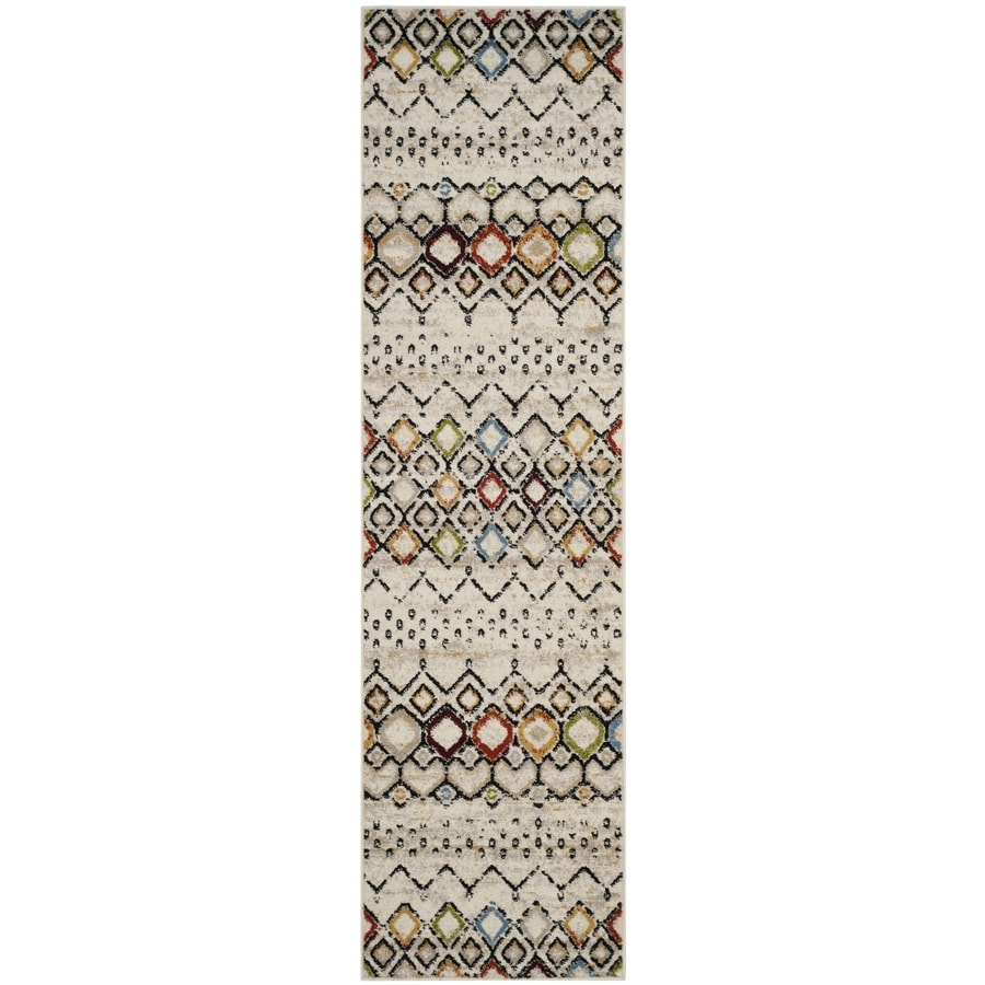 Safavieh Amsterdam Huron Ivory Indoor Lodge Runner (Common: 2 x 12; Actual: 2.3-ft W x 12-ft L)