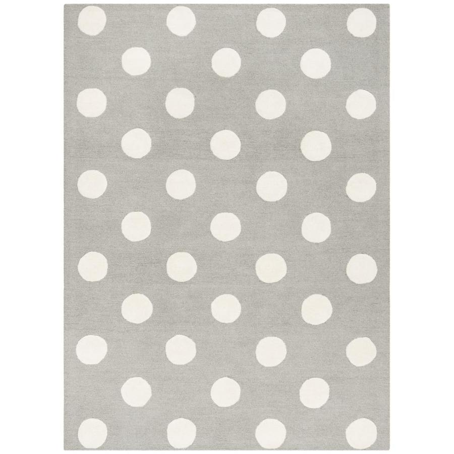 Safavieh Kids Polka Dots Gray/Ivory Indoor Handcrafted