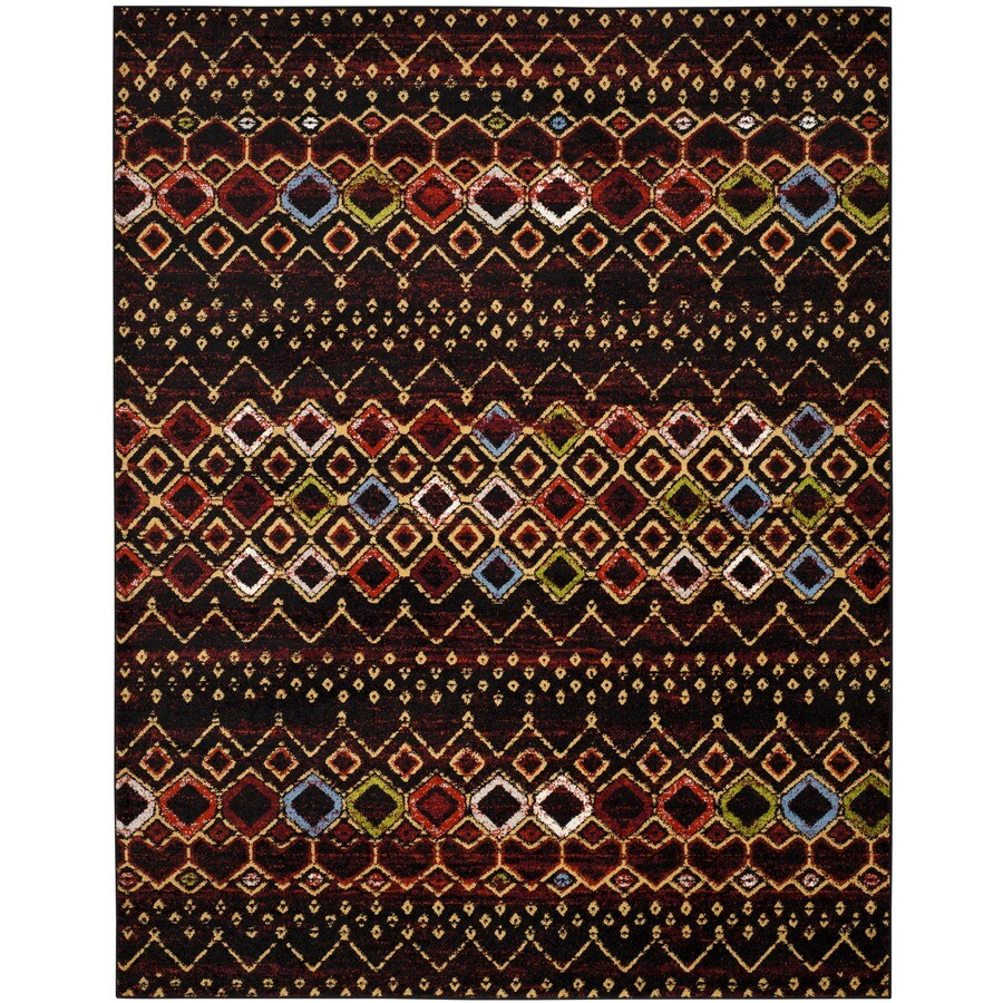 safavieh amsterdam huron black indoor lodge area rug common 11 x 15 actual 11 ft w x 15 ft l. Black Bedroom Furniture Sets. Home Design Ideas