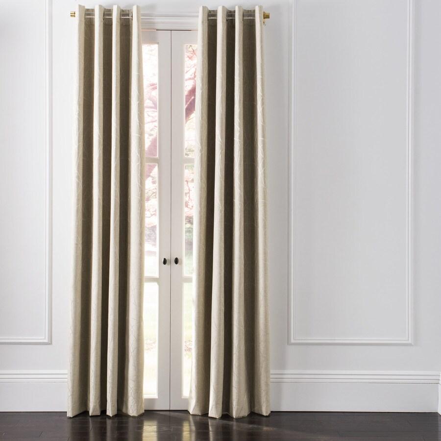 Safavieh Veria 96 In Beige Bamboo Grommet Blackout Standard Lined Single Curtain Panel