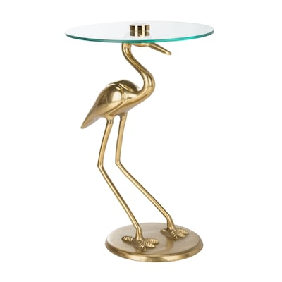 Safavieh Tori Gold/Glass Glass End Table at Lowes.com