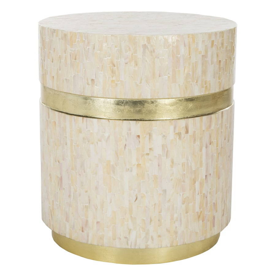 Safavieh perla pink champagne gold end table